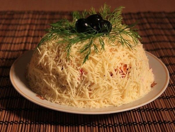 Салаты с сыром оформление